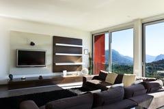Estilo moderno, sala de estar Imagenes de archivo
