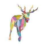 Estilo na moda do moderno dos cervos do Natal geométrico Imagens de Stock Royalty Free