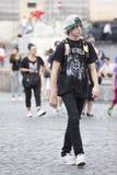 Estilo negro del adolescente con el penacho Fotos de archivo
