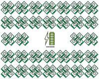 Estilo novo da versão 11 do poder de carregamento do ícone do vetor de Battrey com fundo da arte projeto liso dos símbolos ilustração stock