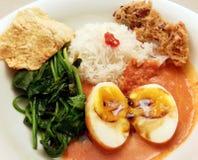 Estilo picante del indonesio de los huevos Imagen de archivo libre de regalías
