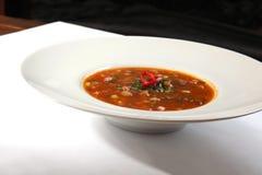 Estilo picante do mexicano da sopa imagens de stock