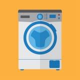 Estilo plano de la lavadora Fotografía de archivo