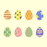 Estilo plano de los huevos de Pascua Fotos de archivo libres de regalías