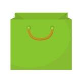 Estilo plano del icono del panier Bolsas de papel en un fondo blanco Paquete del regalo Ilustración del vector Fotografía de archivo libre de regalías