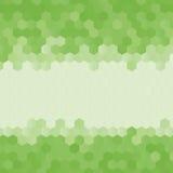 Estilo polivinílico bajo desgreñado geométrico abstracto verde del fondo del hexágono Imagen de archivo libre de regalías