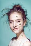 Estilo profesional del maquillaje divertido para la moda de Yong Imagenes de archivo
