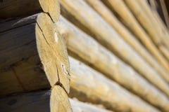 Estilo rústico da casa de madeira Imagens de Stock Royalty Free