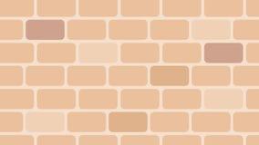 Estilo realístico do projeto do teste padrão dos tijolos, o morno e o limpo ilustração royalty free