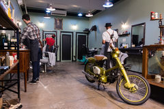 Estilo retro Barber Shop Imagen de archivo