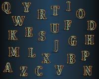 Grupo do alfabeto do vetor Imagens de Stock Royalty Free