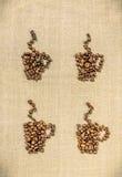 Estilo retro de la decoración del café El menú de la decoración en el café Imágenes de archivo libres de regalías