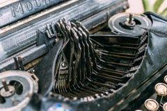 Estilo retro de la máquina de la máquina de escribir del vintage Fotografía de archivo