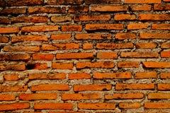 Estilo retro de la pared de ladrillo anaranjada vieja Imágenes de archivo libres de regalías