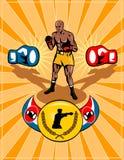 Estilo retro del cartel del boxeo Fotos de archivo