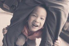 Estilo retro del niño travieso imagen de archivo libre de regalías