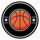 Estilo retro do logotipo da esfera da cesta Fotos de Stock