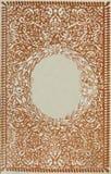 Estilo retro enmarque el ornamento floral en las páginas de libros viejos Fotos de archivo libres de regalías