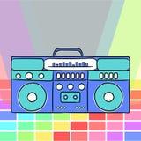 estilo retro 80s Boombox retro de 80 ` s del vintage ilustración del vector