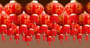 estilo rojo de China de la linterna Imagen de archivo