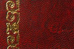 Estilo rojo de cuero del vintage imagen de archivo