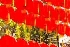 Estilo rojo del chiness de la lámpara de los comp Fotografía de archivo