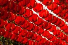 Estilo rojo del chiness de la lámpara de los comp Foto de archivo libre de regalías
