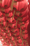 Estilo rojo del chiness de la lámpara de los comp Fotos de archivo libres de regalías