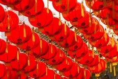 Estilo rojo del chiness de la lámpara de los comp Imagen de archivo