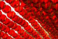 Estilo rojo del chiness de la lámpara de los comp Imágenes de archivo libres de regalías