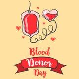 Estilo rojo del día del donante de sangre del backgroud Imagen de archivo