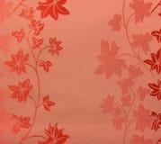 Estilo rojo del vintage del fondo de la tela del modelo inconsútil floral retro del cordón Imagen de archivo libre de regalías