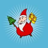 Estilo Santa dos desenhos animados Fotos de Stock Royalty Free