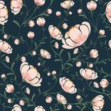 Estilo sem emenda do vintage do fundo do teste padrão de flores Imagem de Stock Royalty Free