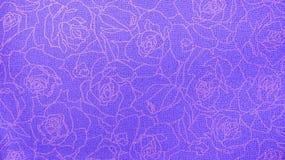 Estilo sem emenda floral do vintage de Rose Pattern Purple Fabric Background do laço retro Fotografia de Stock Royalty Free