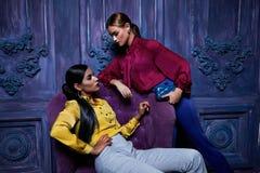 Estilo 'sexy' da forma do partido do negócio de coleção do terno de vestido da mulher Imagens de Stock Royalty Free