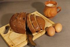 Estilo simple de Europa Oriental del desayuno Fotos de archivo