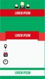 Estilo simple de la plantilla del folleto Imágenes de archivo libres de regalías