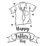 Estilo simple feliz del día de padre ilustración del vector