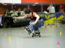Estilo-slalom la competición foto de archivo libre de regalías