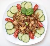 Estilo tailandés cocido del arroz Fotografía de archivo libre de regalías