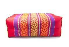 Estilo tailandés de la almohada llana del rectángulo Fotografía de archivo libre de regalías