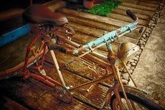 Estilo tailandés de la bicicleta vieja, efecto del vintage Imagen de archivo libre de regalías