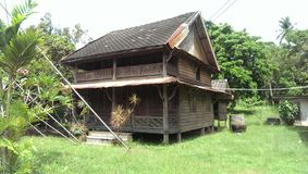 Estilo tailandés de la casa foto de archivo