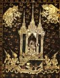 Estilo tailandés de la pintura de la vendimia Foto de archivo libre de regalías