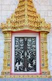 Estilo tailandés de la puerta de Wat Fotos de archivo