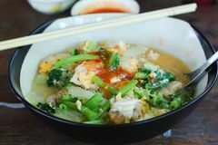 Estilo tailandés de Sukiyaki Foto de archivo libre de regalías