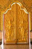 Estilo tailandés del arte en la puerta Tailandia Imagen de archivo