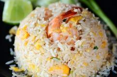 Estilo tailandés del camarón del arroz frito Foto de archivo