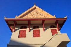 Estilo tailandés del compartimiento en el templo Imágenes de archivo libres de regalías